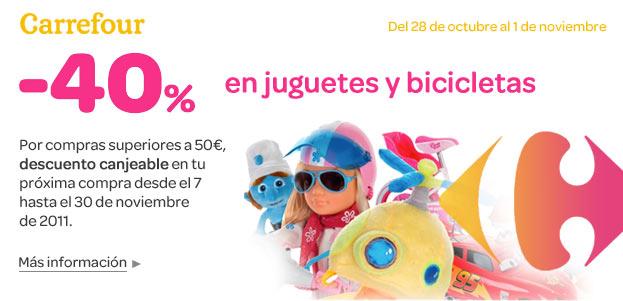 40% descuento en Carrefour
